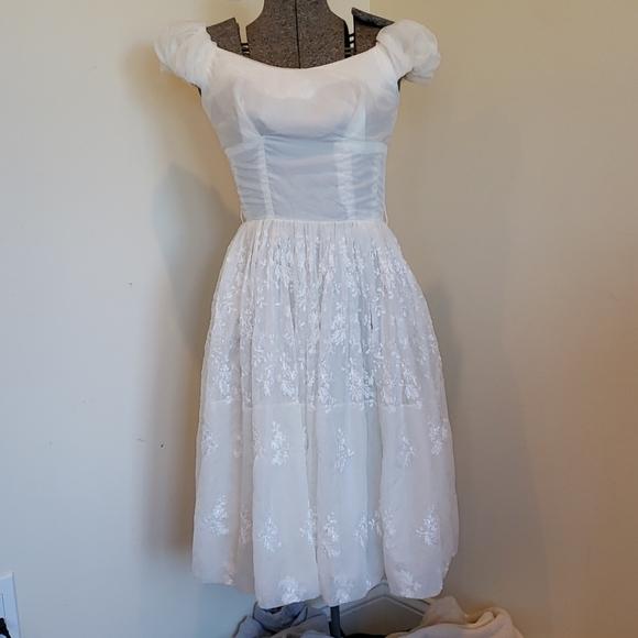 Beautiful satin vintage Baby doll dress